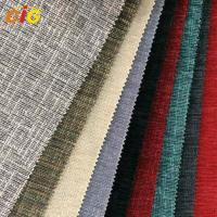 Buy cheap Multicolor Chenille Furniture / Cushion / Sofa Upholstery Fabric With Latex Backing product