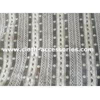 Buy cheap 50 Heavy Embroidered Net Lace Fabric White Polymide For Wedding from wholesalers