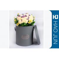 Buy cheap Custom Grey Cardboard Flower Boxes Hot Stamping With 3 Units Sizes from wholesalers