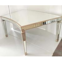 Buy cheap Curved Tempered Glass Dining Table , Contemporary Glass Dining Table For Events from wholesalers