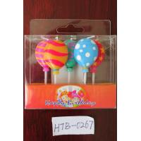 Buy cheap 5 Pcs Balloon Shapd 100% Paraffin Candles For Birthday / Wedding / Festival Party from wholesalers