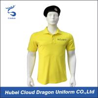 Buy cheap Pre - Shrunk Yellow Law Enforcement T Shirts With Black Security Print , Moisture Absorbing from wholesalers
