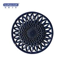 Buy cheap 2018 Wholesale Customized Black Enamel Oval Cast Iron pot pad from wholesalers
