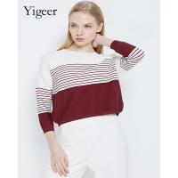 Buy cheap Long Sleeve Striped Round Neck Casual Sweater Shirt from wholesalers