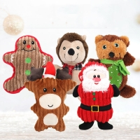 Buy cheap Santa Squeaky 25cm Pet Plush Toy from wholesalers