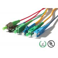 Buy cheap OFNR & OFNP Corning Cable Fiber Optic Patch Cord In SC / LC / FC / ST Connectors from wholesalers