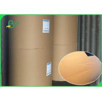 Buy cheap Virgin Pulp Brown Kraft Paper Roll , Food Grade Wrapping Paper Size Customized from wholesalers