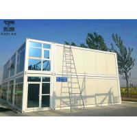 Buy cheap Beige And Blue Prefabricated Container House Glass Curtainwall For Tourist Attractions Office from wholesalers