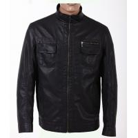 Buy cheap Custom Size 50,XL Male Lightweight  PU knitting Leather Jackets for Mens product