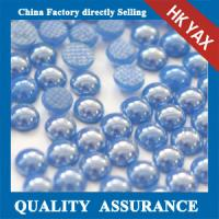 Buy cheap Blue 5mm half round flatback pearls,DIY half round pearls flatback ,flatback half round pearls beads for decoration from wholesalers