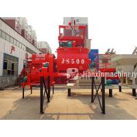 Buy cheap Pneumatic discharge system JS500 aerated double shaft concrete mixer with SC100 air cylinder from wholesalers