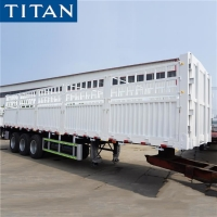 Buy cheap 50 Ton Tri Axle Sugar Cane Stake Cargo Fences Semi Trailer from wholesalers