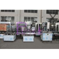 Buy cheap SUS304 / SUS316 Water Bottle Filling Machine , Small Scale Pure Liquid Filling Line from wholesalers