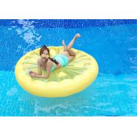 Buy cheap Yellow Lemon Swimming Pool Floats , Round Inflatable Water Rafts Toys 160*160cm from wholesalers