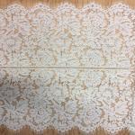 Buy cheap White Jacquard Eyelash Border Lace  For Garment from wholesalers