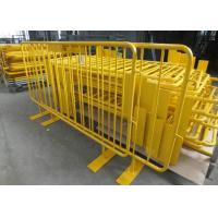 Buy cheap Retractable Steel Barricades Crowd Control / Metal Pedestrian Barriers For Road Safe product