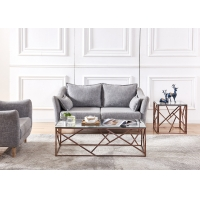 Buy cheap Electroplate Rose Gold Plating SS Frame Modern Coffee Table from wholesalers