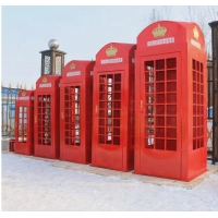 Buy cheap Public antique green phone booths for sale from wholesalers