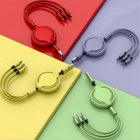Buy cheap Multi Retractable Fast Charger Cord 1.2m Liquid Silicone Multiple Charging Cable from wholesalers