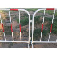 Buy cheap Galvanized Welded Pipe Heavy Barricade With Reflective Band product