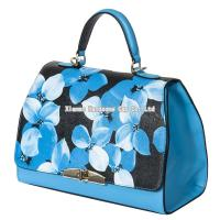 Buy cheap Floral Genuine Cow Leather Lady Fashion Bag WB-008 from wholesalers