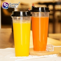 Buy cheap Hot sale hot cold drinking  plastic cup pp  700ml disposable plastic cups with lid from wholesalers