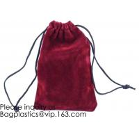 Buy cheap Trim Velvet Cloth Jewelry Pouches/Drawstring Bag Gift Bags,Wine Red, Blue, Red, Pink, Dark Green,Product Gift Bag PACK product