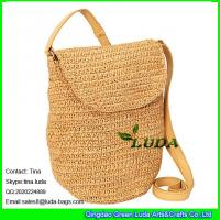 Buy cheap LUDA wholesale raffia shoulder tote bag fashion sling straw raffia handbags from wholesalers