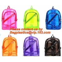 Buy cheap Backpack Bag Casual Backpack For Women, outdoor clear pvc plastic backpack, school travel backpack with padded shoulder product