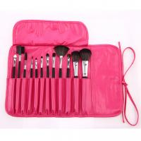 Buy cheap 12pcs latest professional pink makeup brushes in PU bag  Cosmetic Brush Set professional makeup brushes from wholesalers