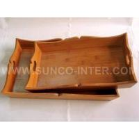 Buy cheap Bamboo Serving Tray from wholesalers