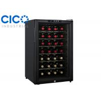 Buy cheap Upright 28 Bottle Thermoelectric Wine Cooler Blue LED Interior Light from wholesalers