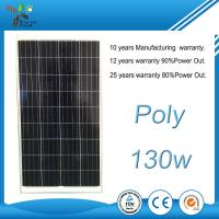 Buy cheap Silver / Black Colour Polycrystalline Solar Panel 130 Watt IP65 Protection Level from wholesalers