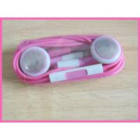 Buy cheap Convenien Blue Cell Phone Earphones With Mic Durable Comfortable Use For Iphone4 from wholesalers