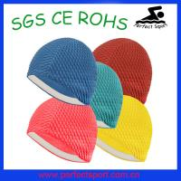 Buy cheap Unisex Moulded Latex Flexible Bathing Bubble Swimming Swim Hat Cap from wholesalers