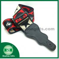 Buy cheap HSGS001 China free designs Polyester Guitar Strap black leather end guitar straps wholesale from wholesalers
