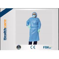 Buy cheap Sbpp Blue Disposable Isolation Gowns S-6XL Thumb Loops Garments  In AAMI Level 1,2,3​ from wholesalers