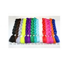 Buy cheap Black wig braid Monochrome chemical fiber Jumbo braid hair High temperature Jacques dirty chemical fiber from wholesalers