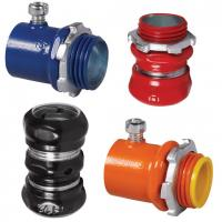 Buy cheap Carbon Steel Metal Conduit Connectors Powder Coating Multi Colors Optional from wholesalers