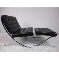 Buy cheap Barcelona Leather Indoor Lounge Chair Stainless Steel Frame High Density Sponge from wholesalers