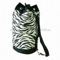 Buy cheap Duffle Bag, Made of 12oz Printed Canvas Cotton, Comes in Zebra Pattern from wholesalers