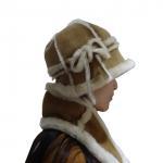 Buy cheap Keep Warm Australian Shearling Womens Hat Gloves Scarf Set Sheepskin Double Face from wholesalers