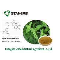 Buy cheap Lemon balm extract Rosmarinic acid herbal extract powder cas 1180-71-8 from wholesalers