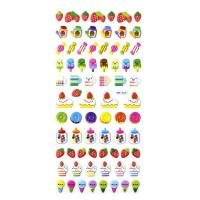 Buy cheap 2017 New Design Candy Fruits Embossed Puffy Stickers3D Effect Self Adhesive PVC Material from wholesalers