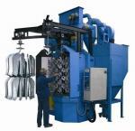 Buy cheap Hook Type Shot Blasting Machine, spare parts rust removing peening machine from wholesalers