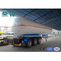 Buy cheap White Carbon Steel Safety Lpg Transport Trailer With Air Spring Suspension from wholesalers
