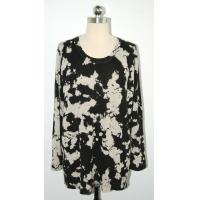 China Anti Shrink Floral Print Sweater Comfortable Pullover Big Flower Printing on sale