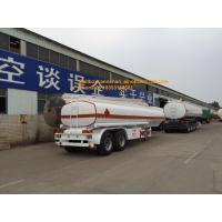 Buy cheap 2 Axles Oil Fuel Tank Trailer Heavy Duty Semi Trailers Q345 Carbon Steel Material from wholesalers