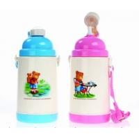 Buy cheap 500ml Eco Friendly Reusable Sport Thermos Kids Plastic Water Bottles With Wide Mouth from wholesalers