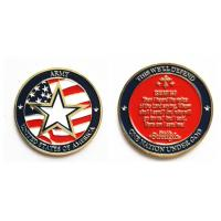 Buy cheap 45mm dia. Double-sidedUSA ARMY zinc alloy COIN with soft enamel from wholesalers